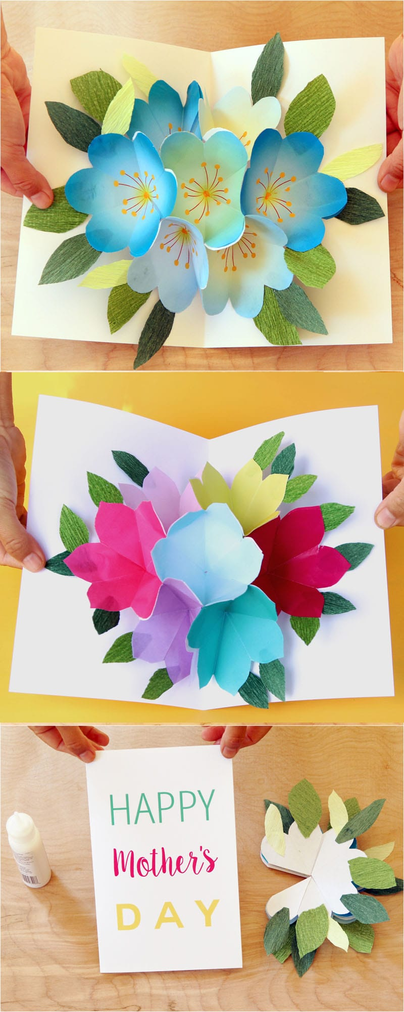 Pop Up Flowers DIY Printable Mothers Day Card A Piece Of Rainbow - Free mother's day card templates