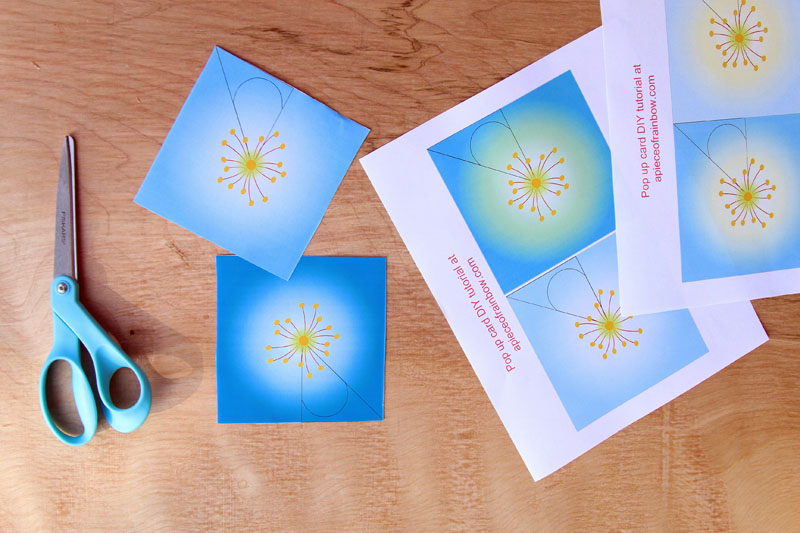 Pop up flowers diy printable mothers day card a piece of rainbow step 1 make 7 flowers in 7 minutes mightylinksfo