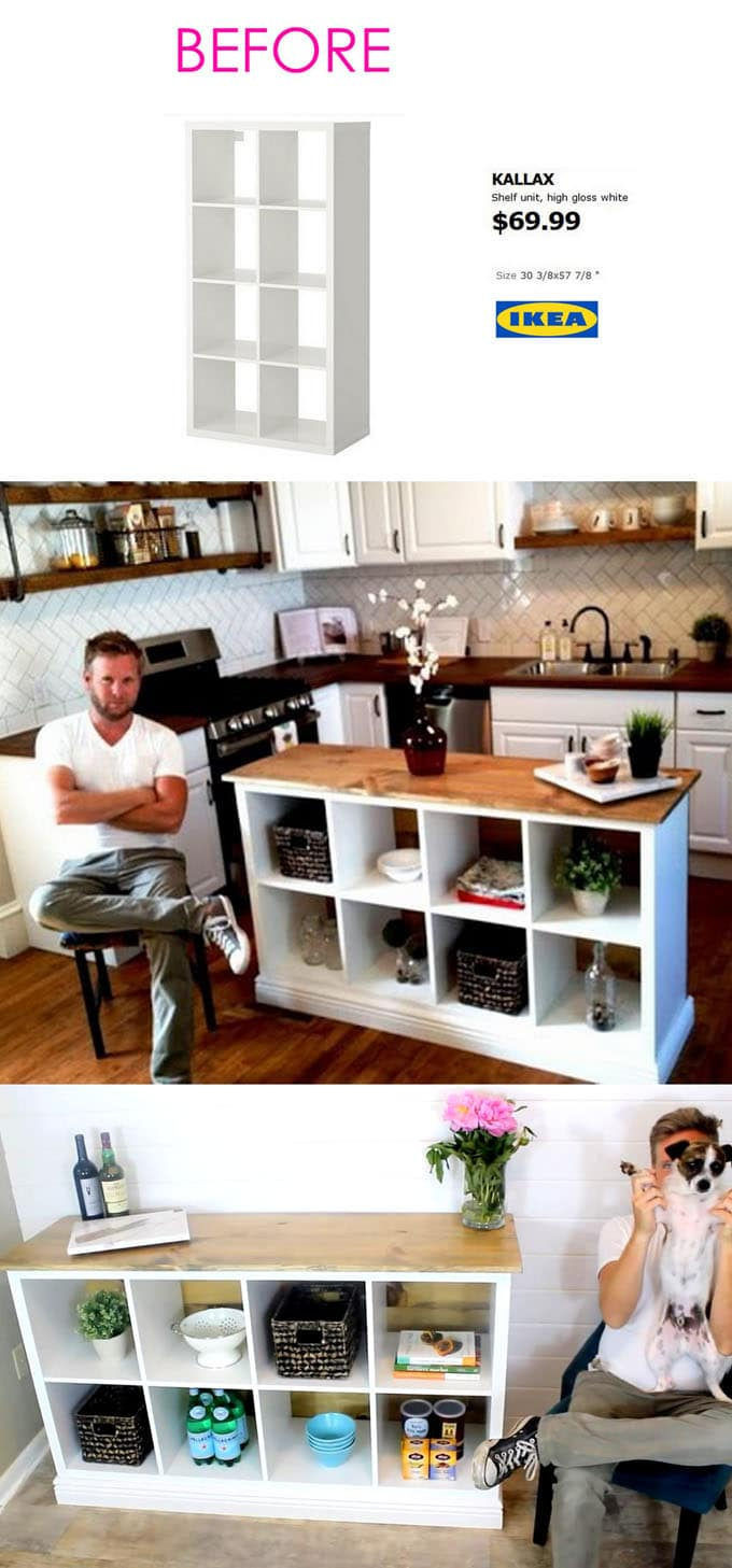 Ikea Hacks Kitchen Island | 20 Smart And Gorgeous Ikea Hacks Great Tutorials A Piece Of