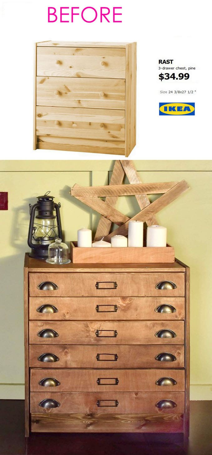 Awesome Now You Can See Why The Rast Dresser Is One Of The Favorite Ikea Hack  Subjects! Your Guests Would Never Guess This Vintage Apothecary Chest  Originally Came ... Awesome Ideas
