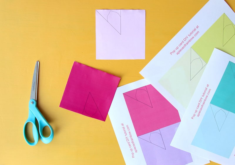 Birthday Cards Pop Up How To Make ~ Free printable happy birthday card with pop up bouquet a piece of