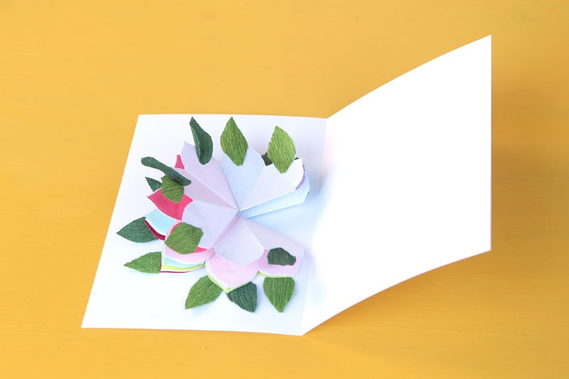 Place The Glued Stack Of Flowers Inside Card As Shown A Little Bit Glue Only On Very Center Petal Flower Close