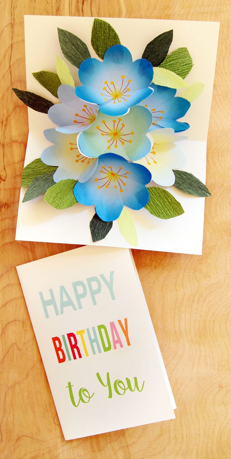 Free printable happy birthday card with pop up bouquet a piece of downloads for this printable pop up happy birthday card bookmarktalkfo
