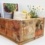 DIY vintage wooden crates with image transfer to wood