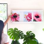 How to make a beautiful collage photo frame for $5 in 30 minutes. A game changer picture frame! Change photos in seconds without taking the frame off the wall! Video tutorial, free plan & great tips. With a beautiful whitewashed wood finish, it's the perfect decor and gift. - A Piece of Rainbow