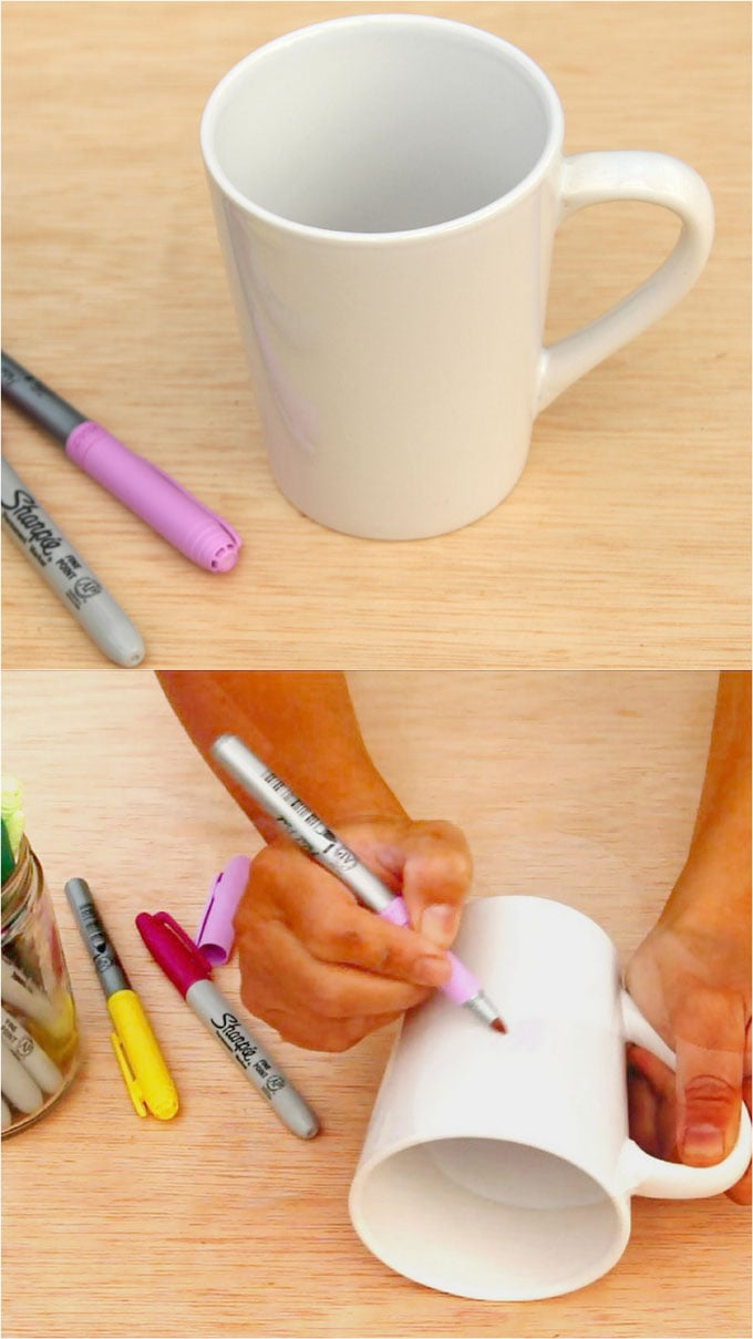 sharpie mugs DIY