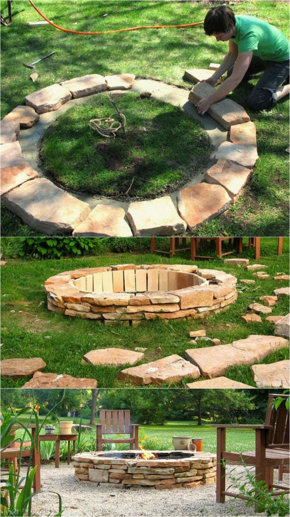 24 Best Outdoor Fire Pit Ideas To DIY Or Buy - A Piece Of Rainbow