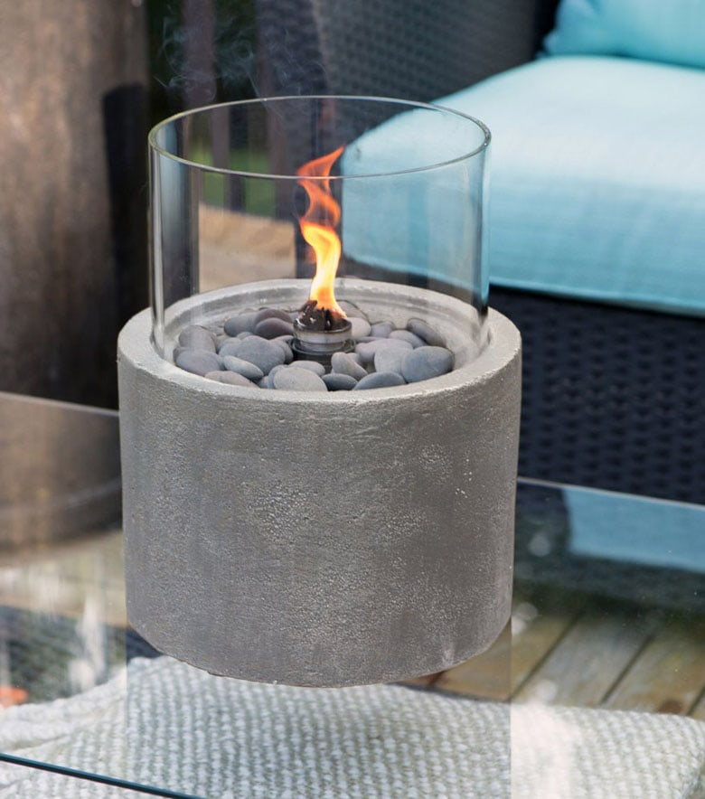 Small concrete table top fire pit
