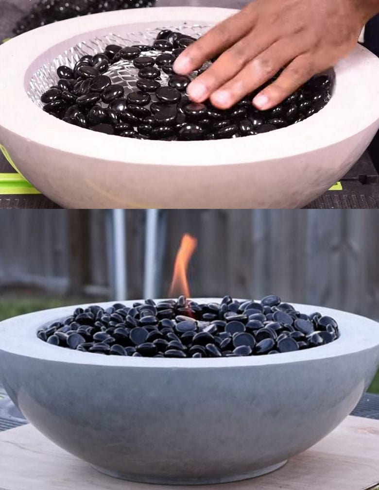 DIY small table top fire bowl