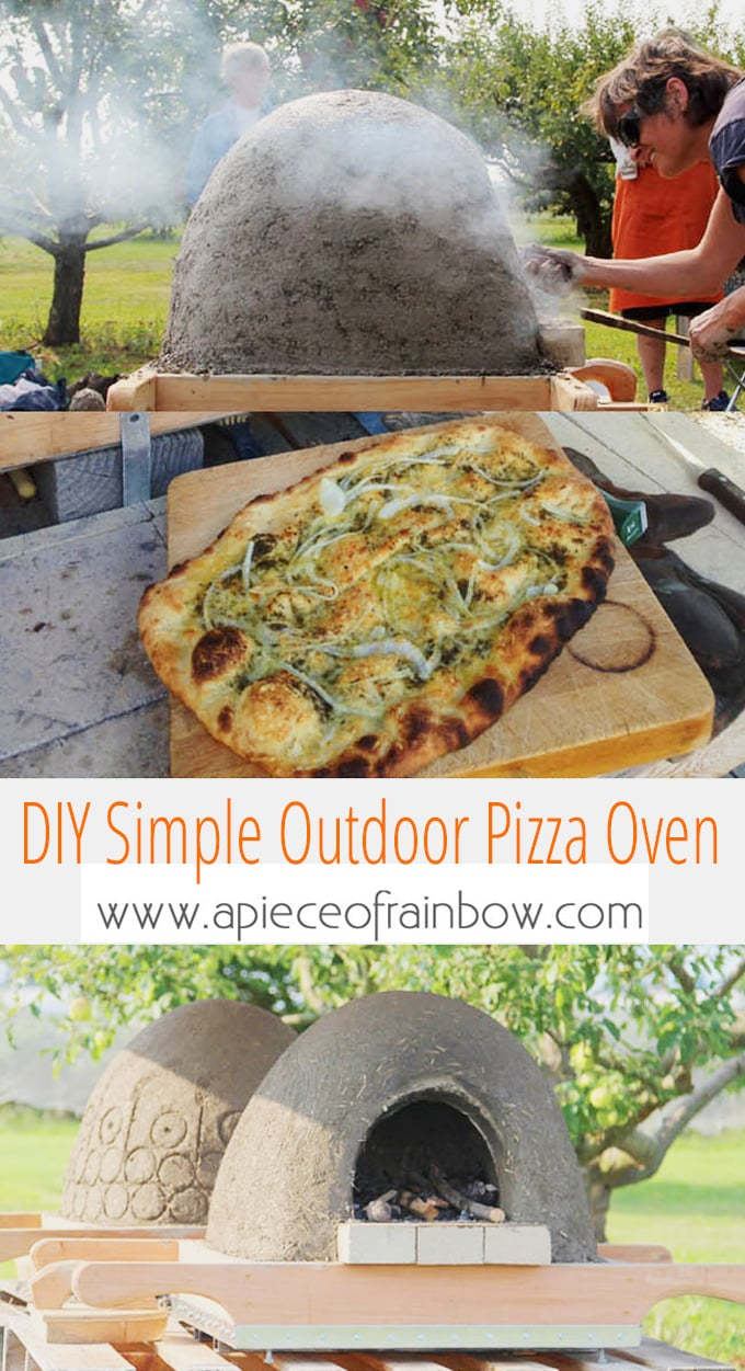 Diy Wood Fired Outdoor Pizza Oven Simple Earth Oven In 2 Days