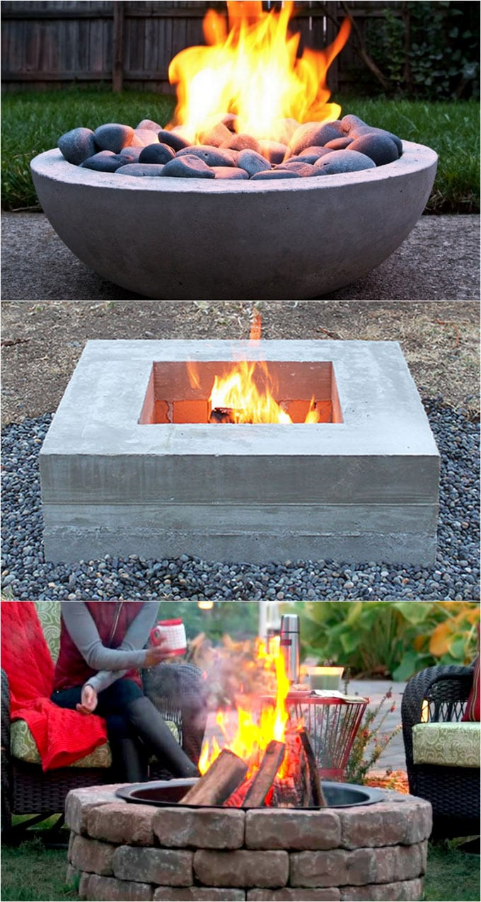 diy concrete fire pit ideas