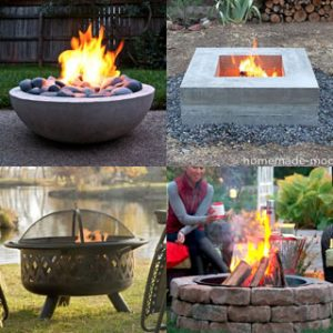4 variations of fire pit ideas
