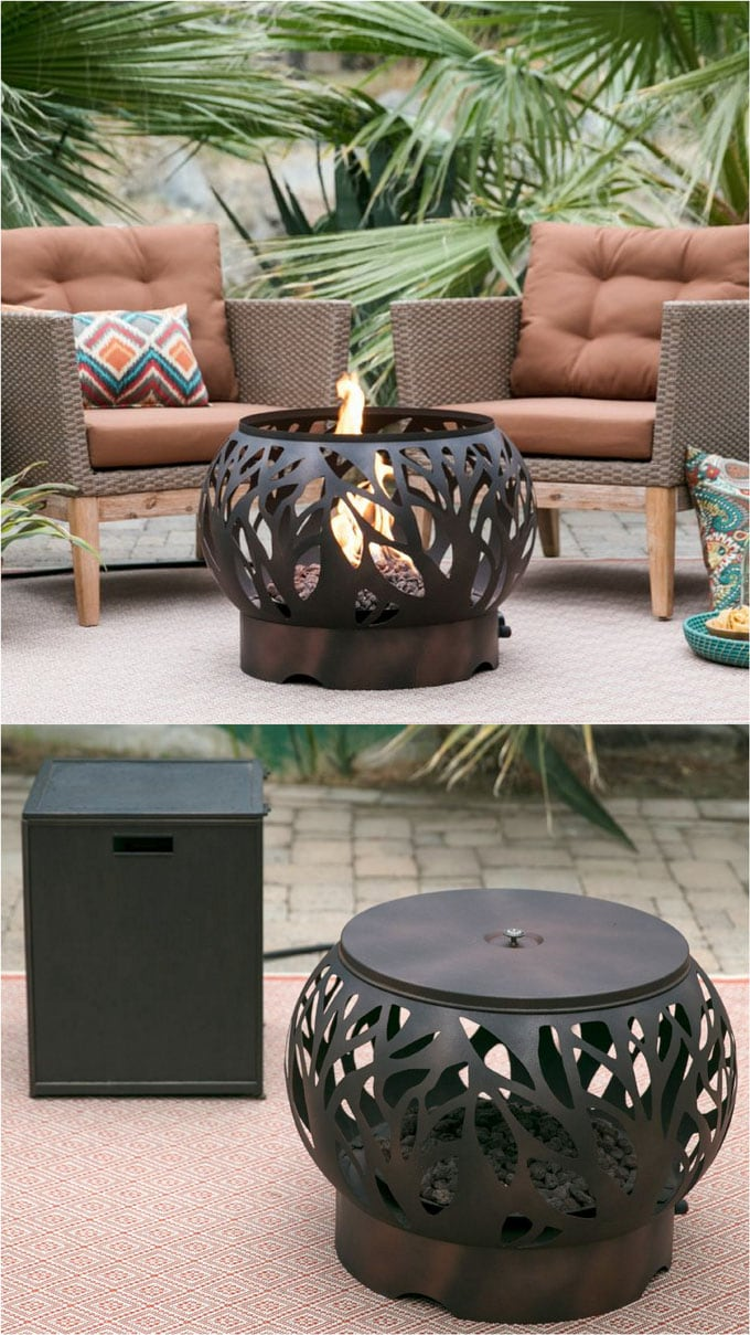 metal Propane fire pit coffee table
