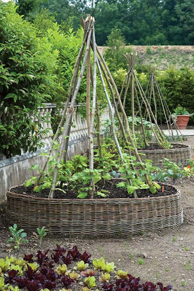 Traditional kitchen garden trellis ideas