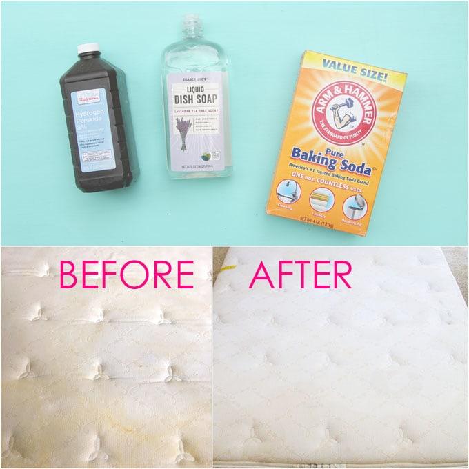 how to spot clean a mattress