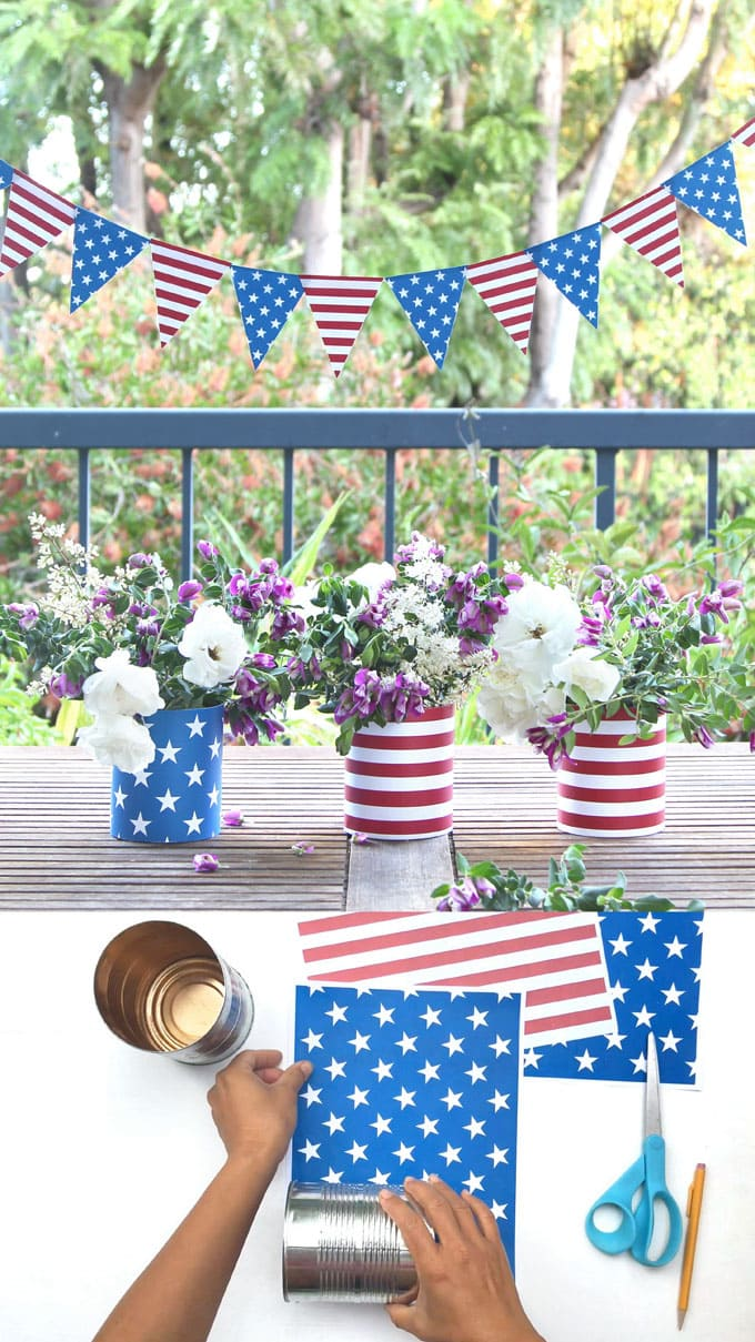 free 5 minute july 4th decorations great for labor day too a piece of rainbow. Black Bedroom Furniture Sets. Home Design Ideas