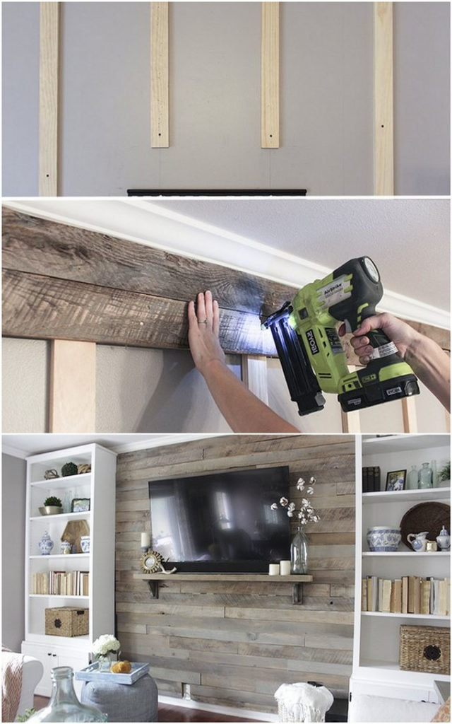 How to build a wood accent TV wall