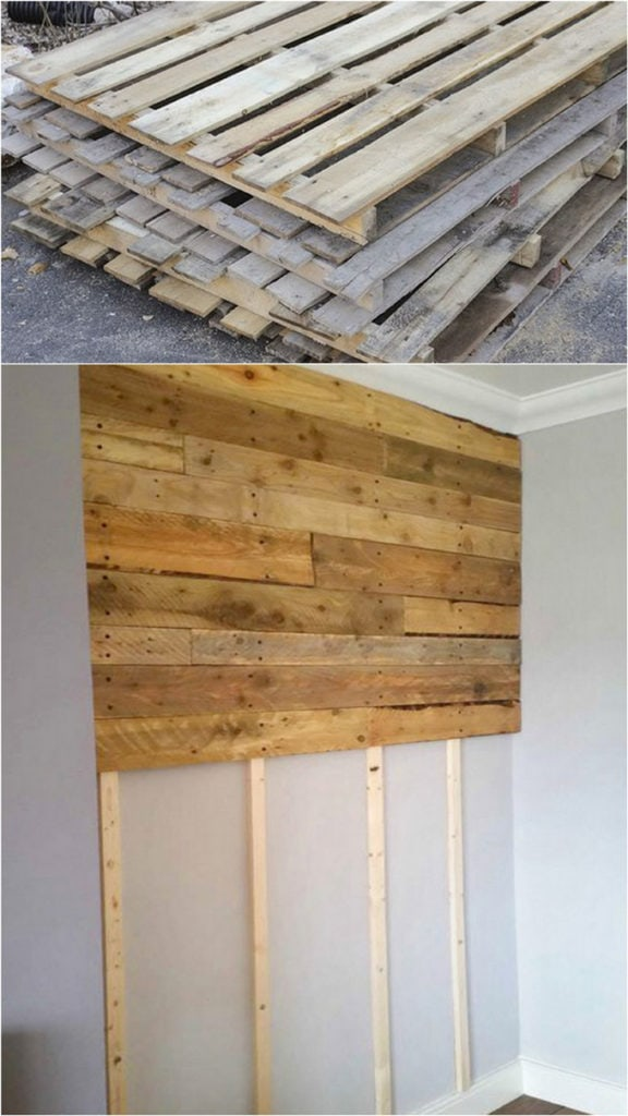 How to install a pallet wall on studs