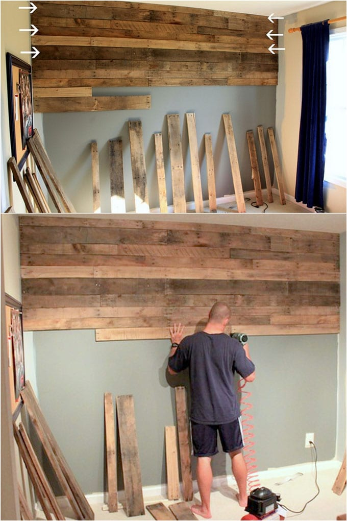 Diy Pallet Wall 25 Best Accent Wood Wall Tutorials A Piece Of Rainbow