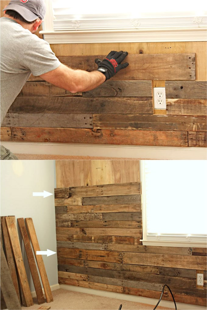 Diy Pallet Wall 25 Best Accent Wood Wall Tutorials A