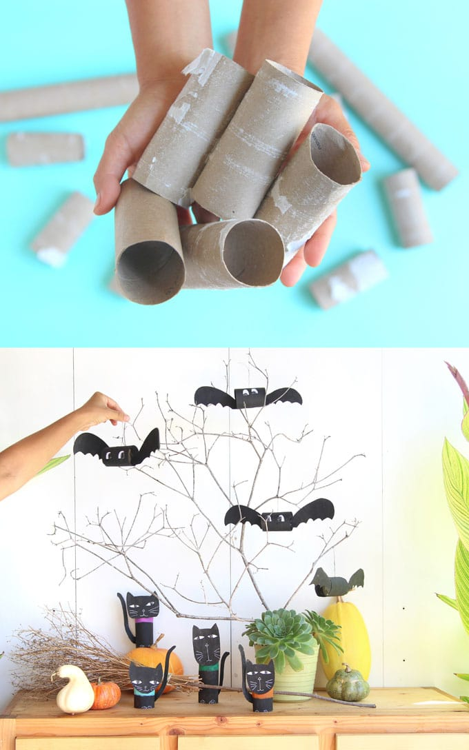 All You Need Are Some Toilet Paper Rolls Paints And Glue Can Use These Diy Bats As Mantel Decorations On A Wreath Or
