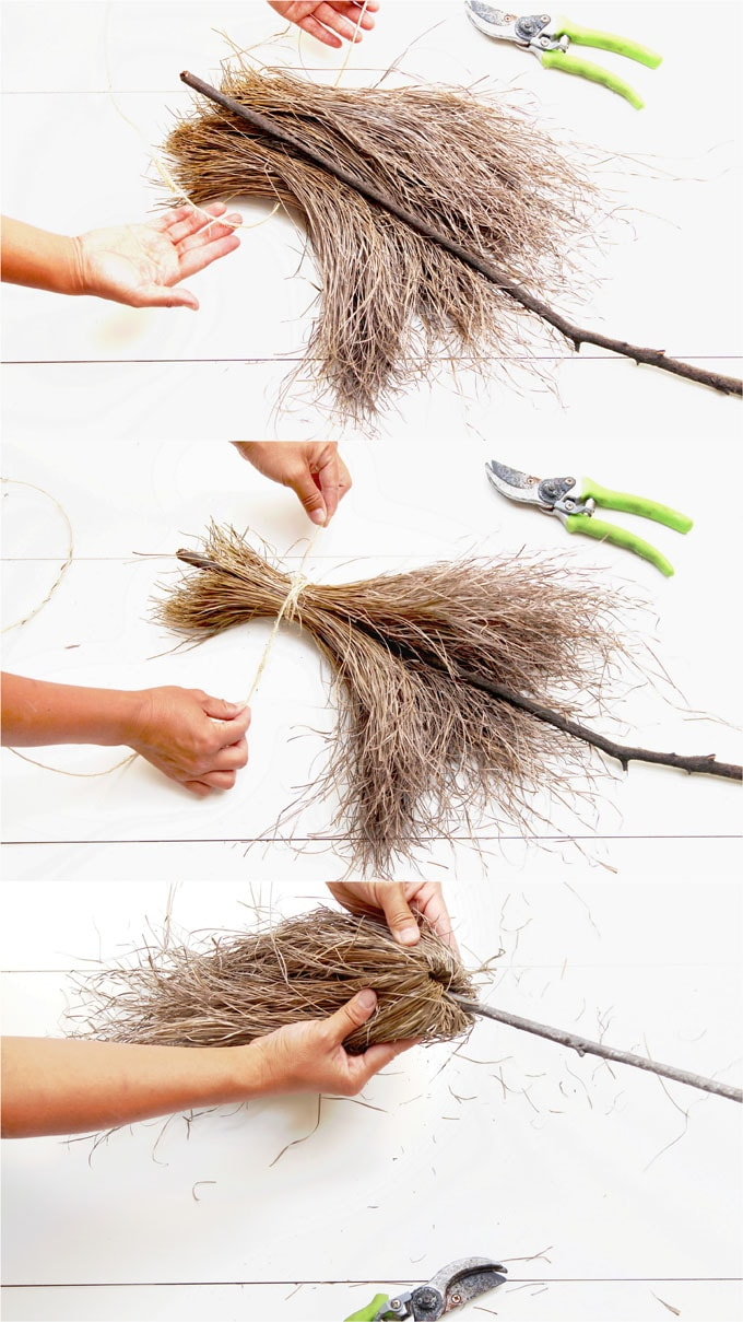 Magical & Free DIY Halloween Witches Broom {2 Ways!} - A Piece Of Rainbow