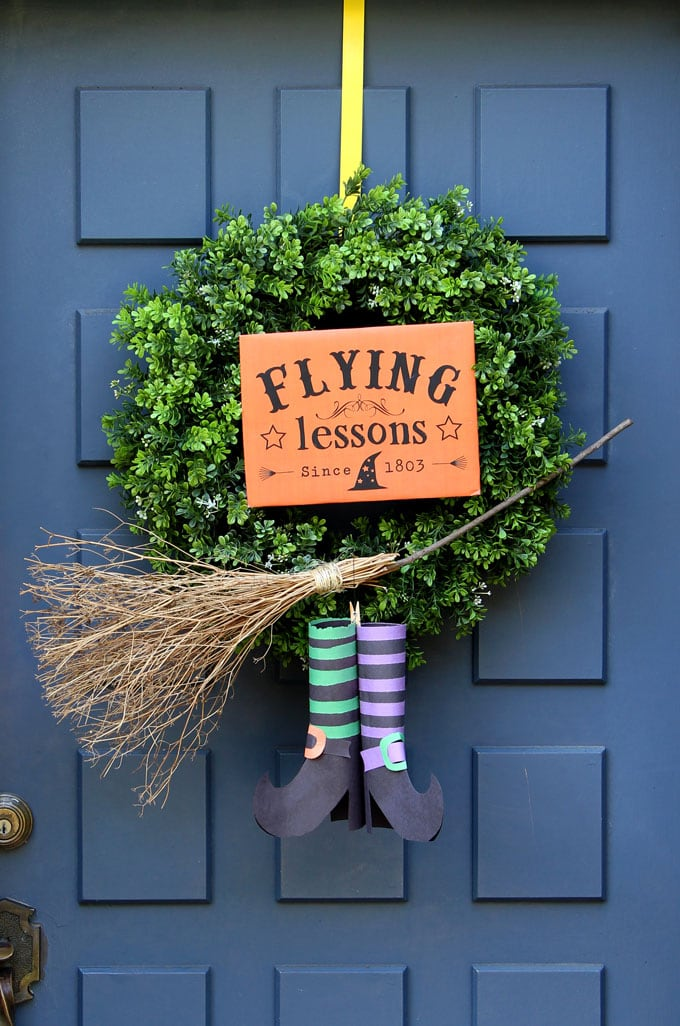 Magical Amp Free Diy Halloween Witches Broom 2 Ways A