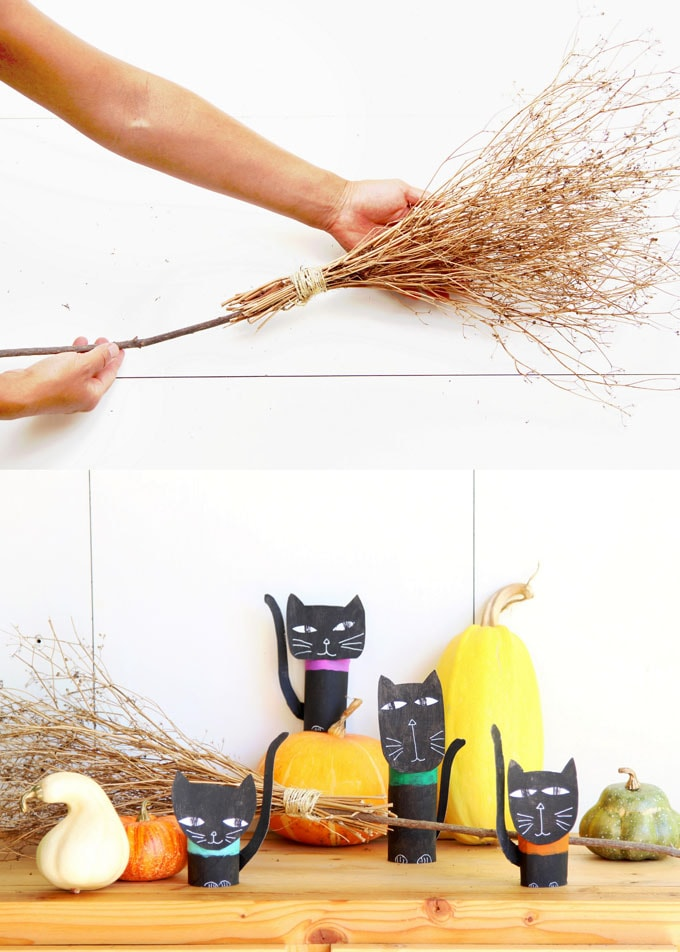 Magical & Free DIY Halloween Witches Broom {2 Ways!} - A