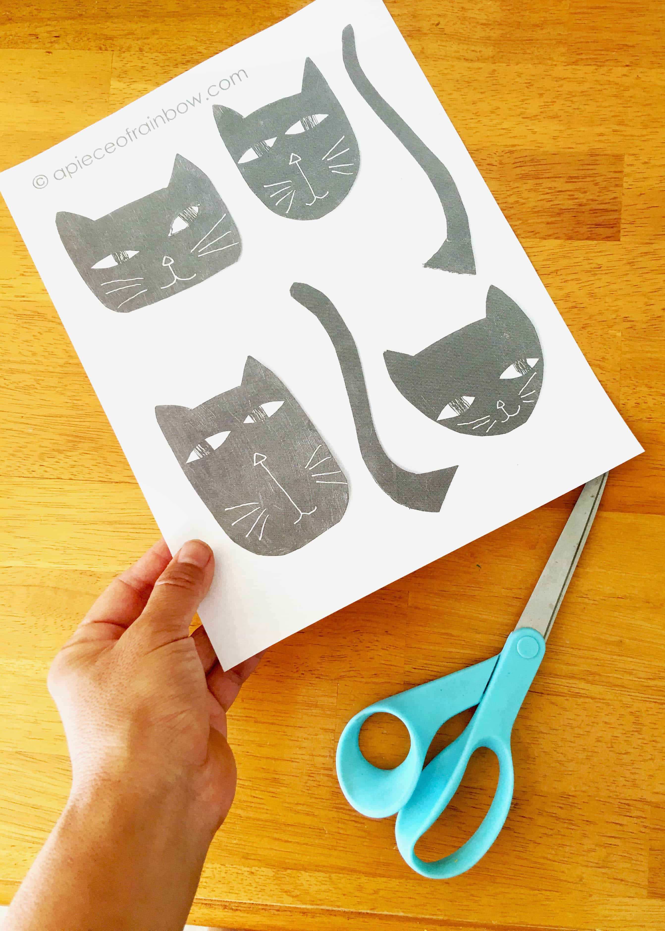 wickedly fun halloween cat decorations ($0 easy craft!) - a piece of