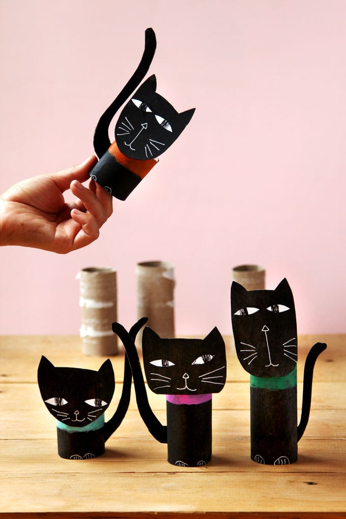 Wickedly fun halloween cat decorations 0 easy craft a piece of glue everything together now its time to create some halloween decorations with your black cats altavistaventures Choice Image