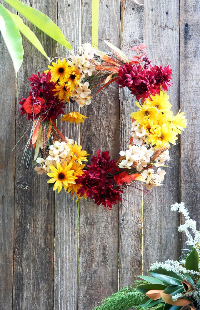 Beautiful Diy Fall Wreath In 10 Minutes So Easy A Piece Of