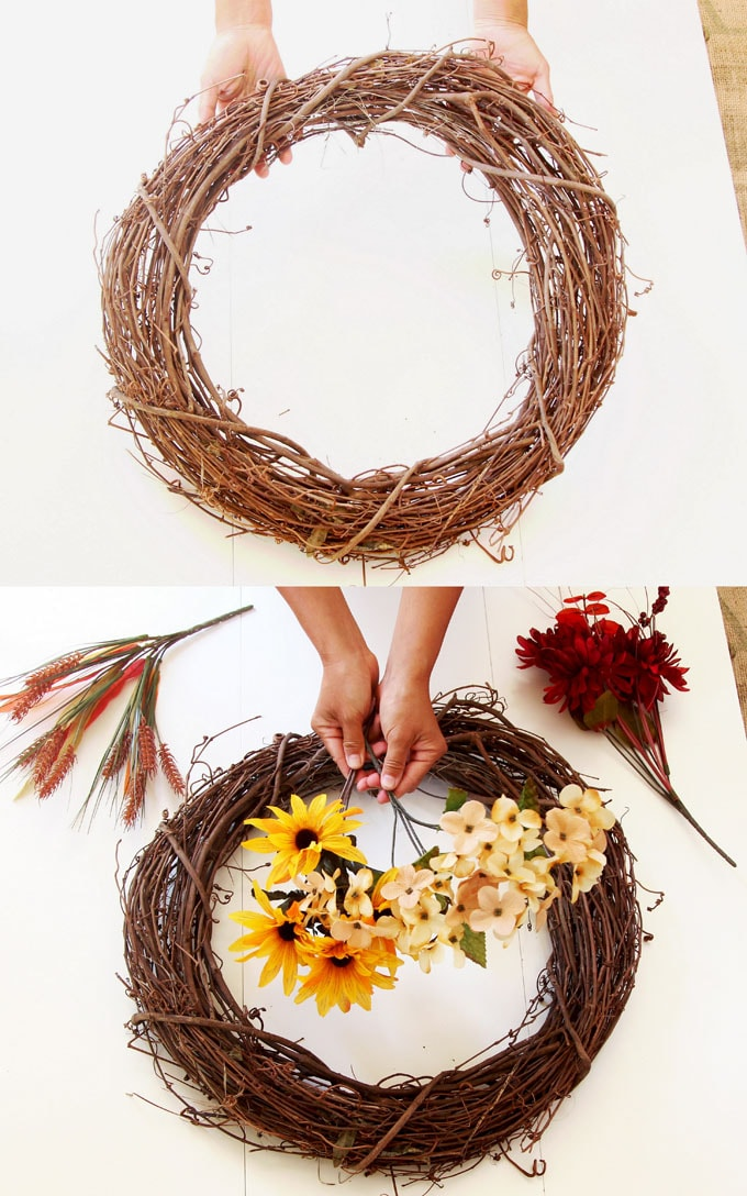 Diy Fall Wreath In 10 Minutes So Easy