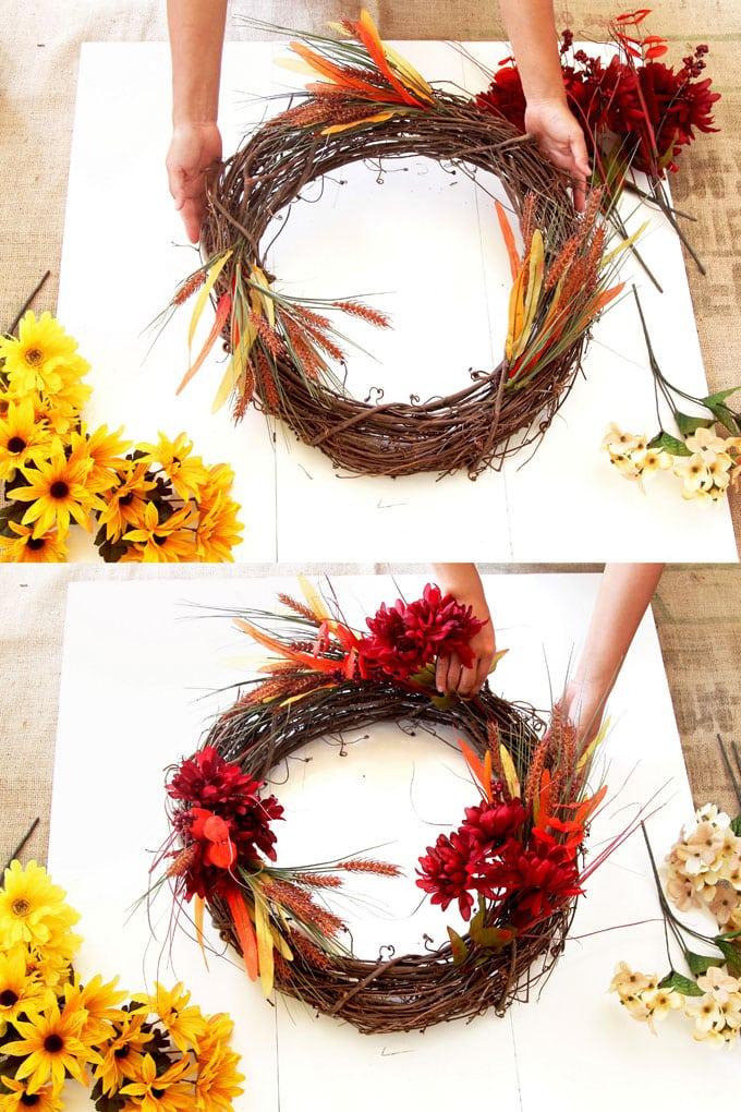 Diy Fall Wreath In 10 Minutes So Easy