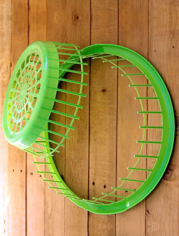 dollar store laundry basket wreath diy hack apieceofrainbow 1 - How to Make Wreath SUPER Fast: A Dollar Store Hack