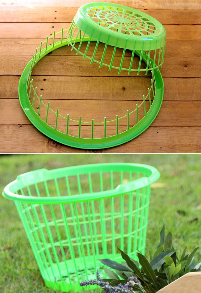 Steal this Dollar Store laundry basket DIY idea today, and make your own $1, easy and beautiful home decor!