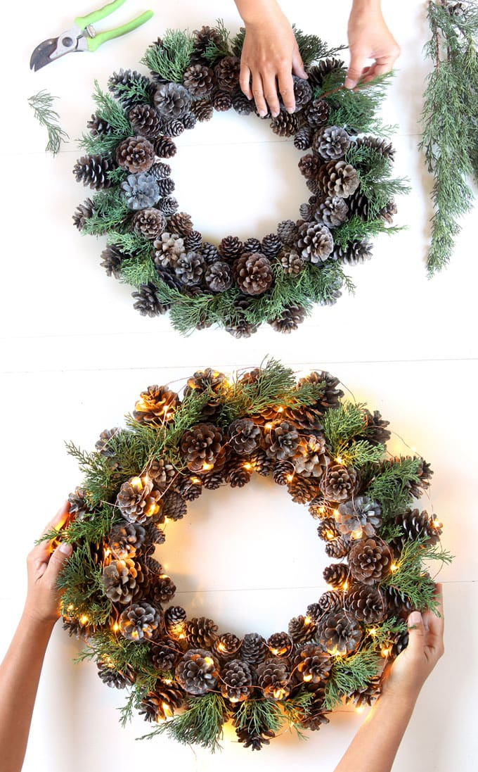 Non Christmas Winter Wreaths.Beautiful Fast Easy Diy Pinecone Wreath Improved Version