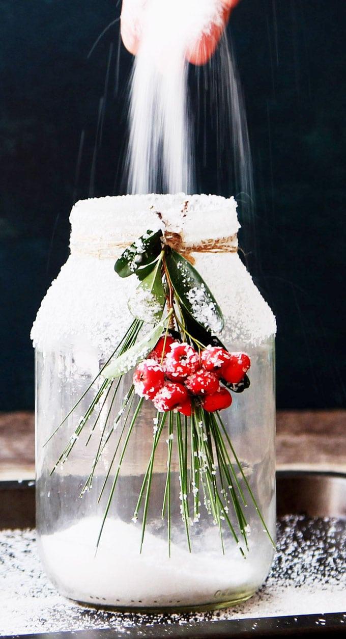 Snowy Diy Mason Jar Centerpieces A Piece