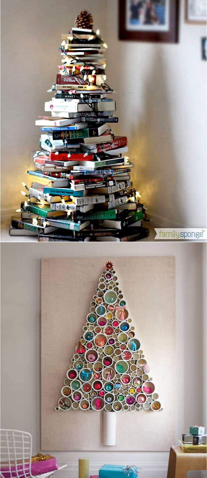 by the end of this collection of creative christmas decoration ideas you will be so happy to know that yes one can have 10 diy christmas trees even in a