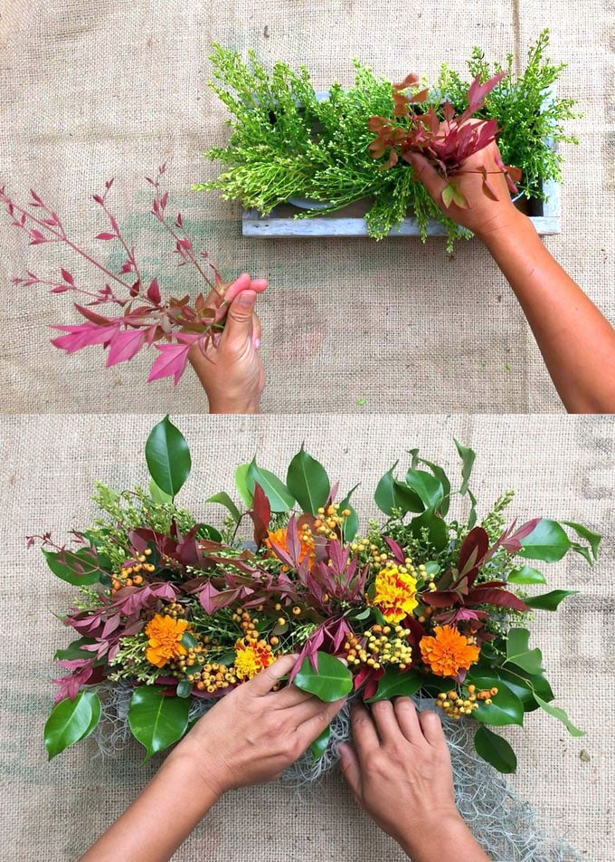 Easy Fall & Thanksgiving Centerpiece {10 Minute $1 DIY