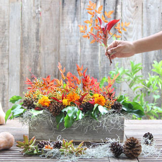 Easy DIY fall & Thanksgiving centerpiece for $1. Tutorial & video with lots of tips & tricks to make gorgeous long lasting Thanksgiving table decorations!