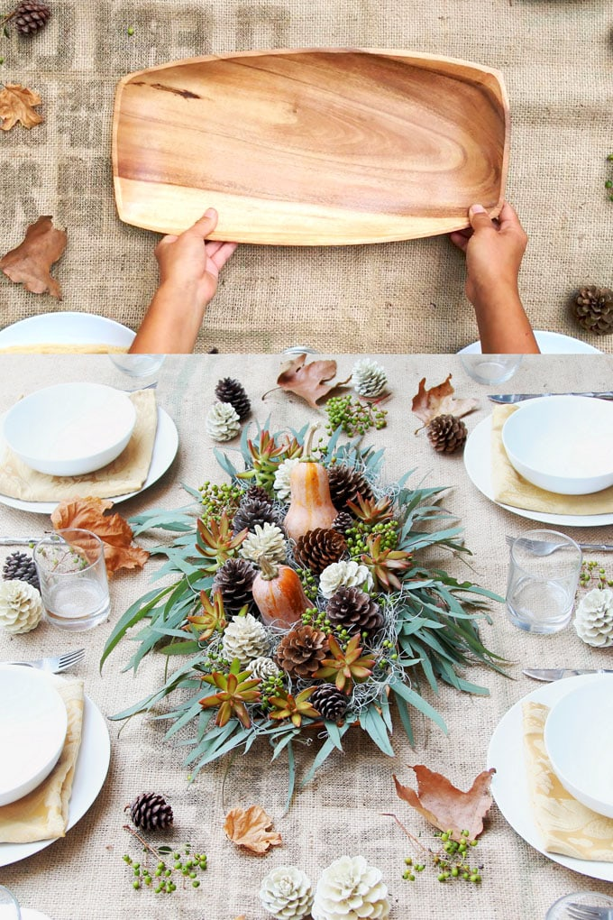 Beautiful DIY Thanksgiving Table Decoration For $1 (SO