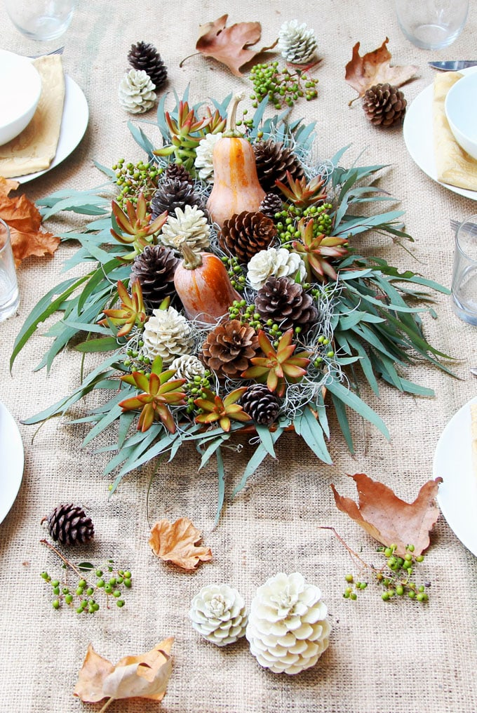 Beautiful DIY Thanksgiving Table Decoration For $1 (SO ...