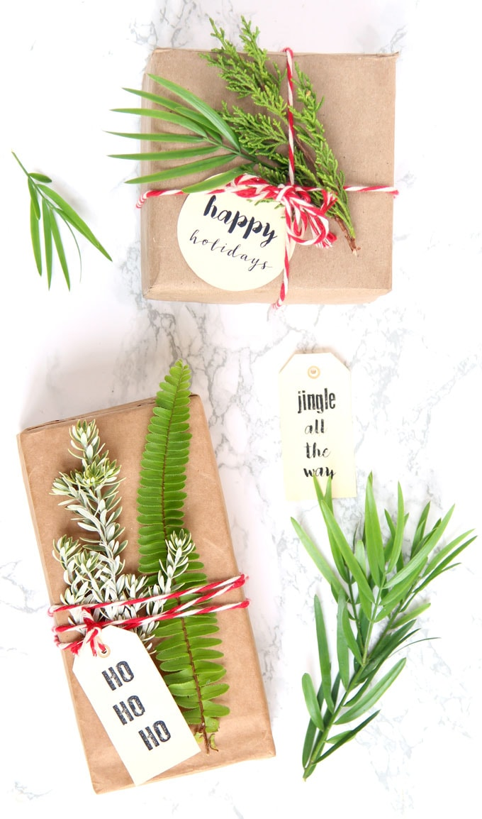 Creative DIY Christmas gift wrapping ideas brown paper free best tips tricks apieceofrainbow 11 - Free & Gorgeous DIY Christmas Gift Wrapping in 5 Minutes