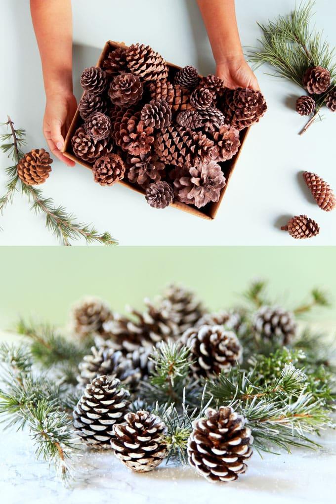 Natural Pine Cones Pine Cone decoration Gold Craft Pine Cones Gold Painted Pine Cones