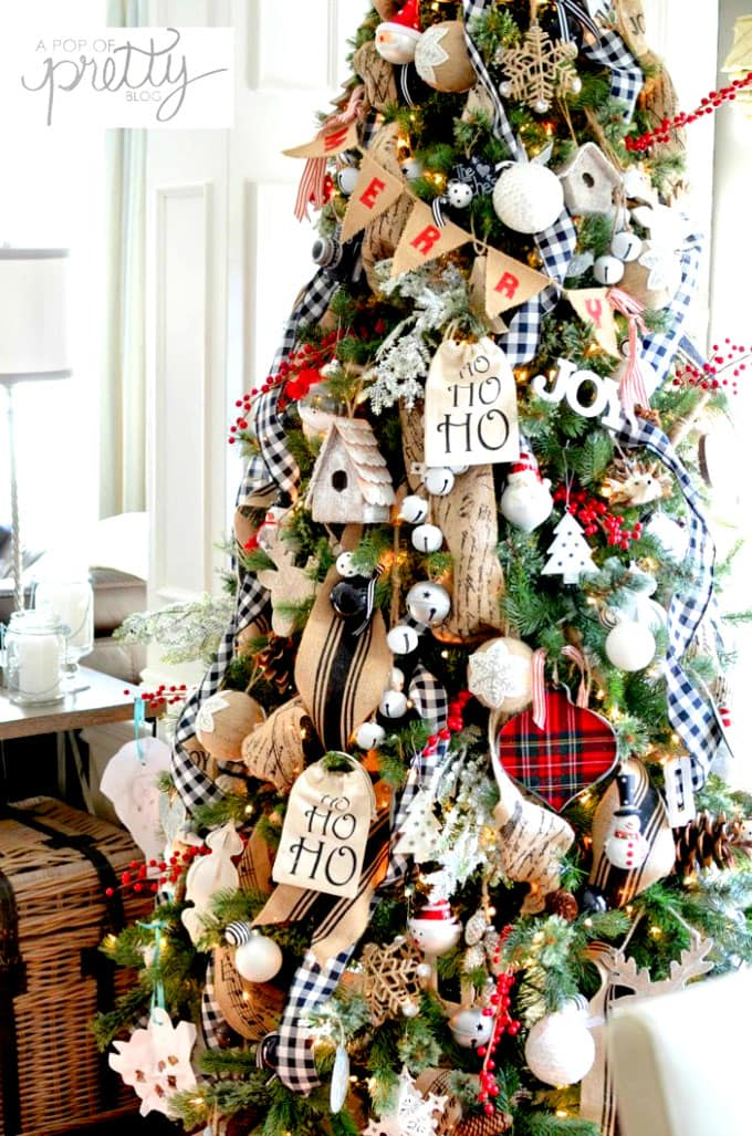 Idea 16: woodland themed Christmas tree decorating