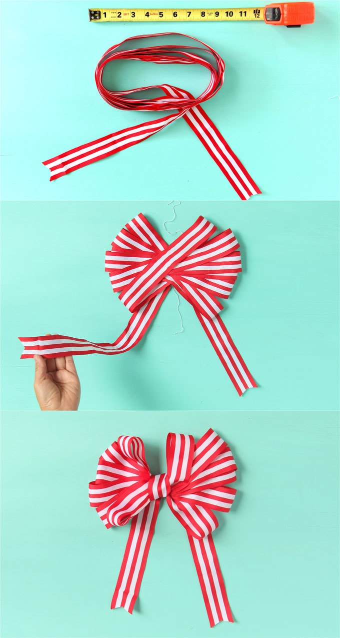 30 Minute Diy Christmas Candy Cane Wreath With Free Material A Piece Of Rainbow