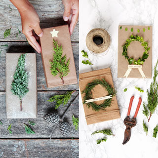 Beautiful & super easy DIY Christmas gift wrapping ideas, using upcycled brown paper & free natural materials to create festive designs that everyone loves!