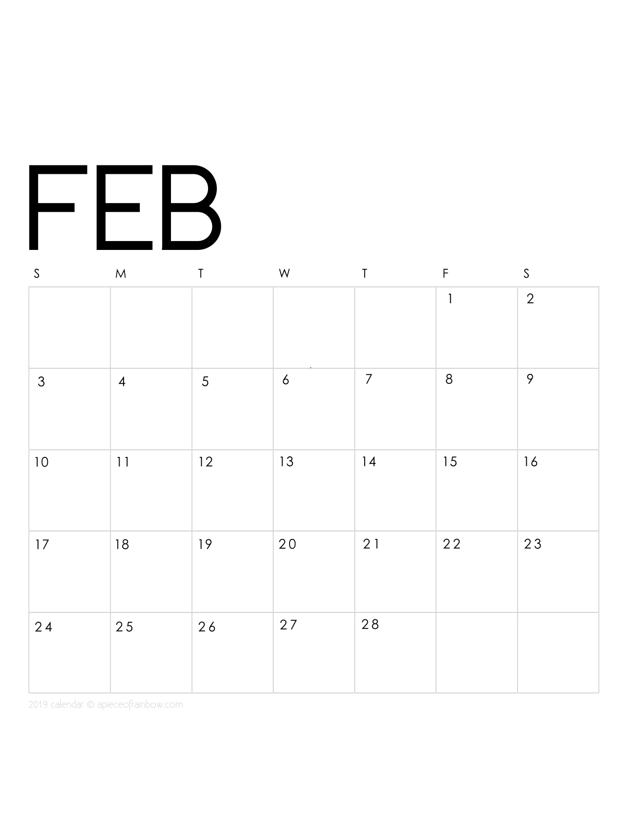 graphic regarding Calendar February Printable referred to as Printable February 2019 Calendar Regular monthly Planner 2 Patterns