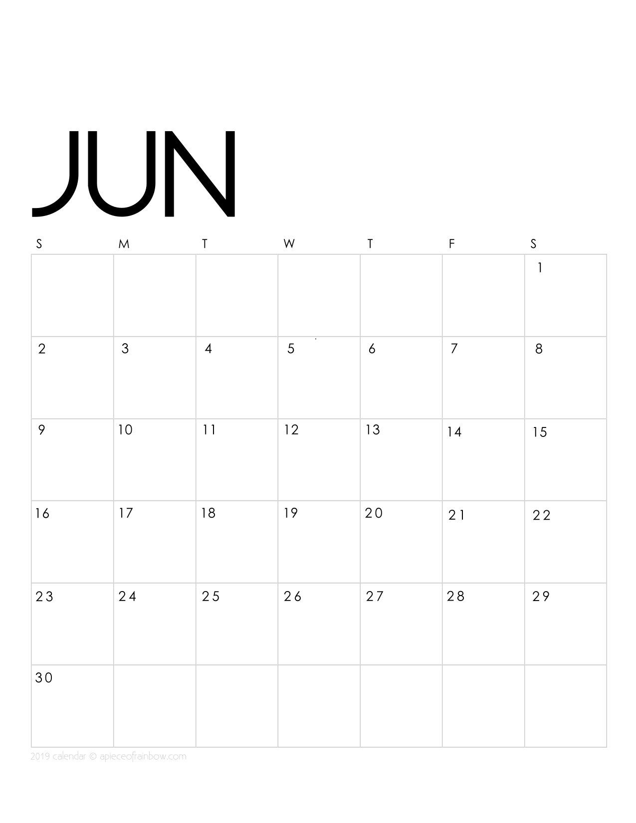 graphic regarding Printable June known as Printable June 2019 Calendar Regular monthly Planner 2 Programs