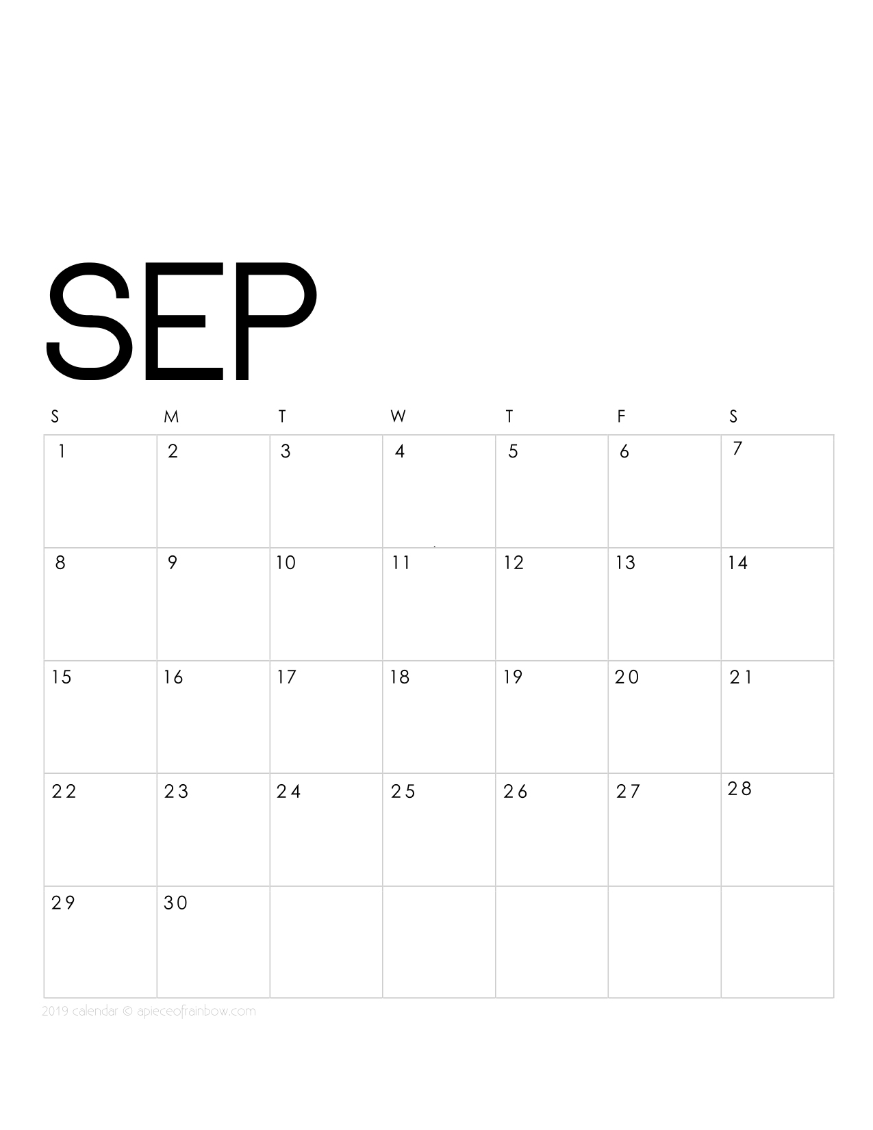 picture about Printable Monthly Calendar September identified as Printable September 2019 Calendar Regular Planner 2 Plans